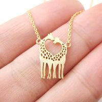 Now, this is cute :) Lovey Giraffes Necklace