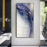 Gold Abstract paintings on Canvas art Original Painting acrylic purple white heavy texture Abstract Gold extra large painting Wall Pictures $161.25