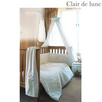 Clair de Lune Stardust - 5 Piece Bedding Bale To fit Cot/Cotbed. Beautifully presented in a gift pack this bedding bale consists of Quilt Bumper Appliqued Fleece Blanket 1 Cotton Flannelette Flat Sheet and 1 Cotton Jersey Fitted Sheet. http://www.compares...