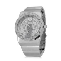Extra Large Silver Plated Bezel Watch £27.95