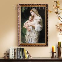 Mama Mary Jesus Christ Painting On Canvas art Wall Pictures Jesus Christ Virgin Mary Holding The Jesus Art hand painted original painting $299.00