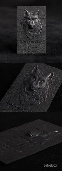 Amazing 3D Embossed Black Business Card These outstanding black business cards feature an impressive combination of premium print services used to create the multi-level design and achieve unbelievable detail. A strong 30pt Onyx Black paper was 3D embosse...