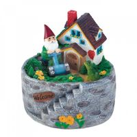 Storybook Home Gnome Solar Statue by Decorshop $17.95