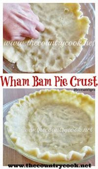Wham Bam Pie Crust (no rolling and no secret technique needed! Turns out perfect every time - so easy!)