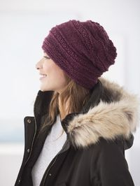 Free Knit Pattern: Simple Texture Slouch Hat