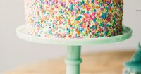 cute, cute, cute confetti cake - just for dessert, for a birthday or even multi-tier as wedding cake!