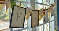 How to Make a Decorative Fall Banner