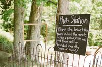 an affordable photo booth! cute, simple guest book...and you might actually look back through it. ;)
