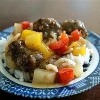 Lana's Sweet and Sour Meatballs   Meatballs simmered in a homemade sweet and sour sauce. Make it a meal by serving it over rice.