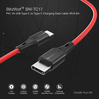 BlitzWolf® BW-TC17 3A USB PD Type-C to Type-C Charging Data Cable 3ft/0.9m For Macbook Pocophone F1
