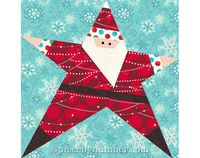 Santa Star block, Paper Piecing Quilt pattern, INSTANT DOWNLOAD, Christmas quilt pattern, holiday quilt pattern, PDF patterns, Santa Claus