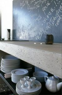 still like chalkboards and concrete counters