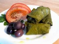 Zucchini Dolmas Makes 24. Approx. 24 pickled grape leaves (1 jar) 2 c grated zucchini (skin & all) 1/2 c finely chopped parsley 1/4 c green onions, chopped 2/3 c crumbled feta cheese 1/4 c olive oil 1 heaping Tbs dried, crushed mint le...