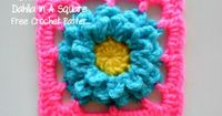 Free Crochet Patter~~~~Stash Bustin' Dahlia In A Square