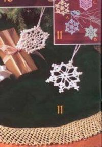 Try this lacy crochet pattern to make beautiful delicate snowflakes to decorate your Christmas tree. This free easy crochet pattern features patterns for snowfl