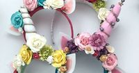 DIY Unicorn headband.Made one different than the others for the Queen in her�€�