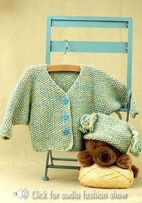 Snowflake Jacket & Hat. Free pattern. Skill-Easy.