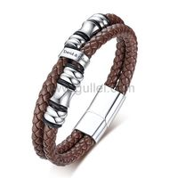 Personalized Leather Bracelet for Him https://www.gullei.com/personalized-leather-bracelet-for-him.html