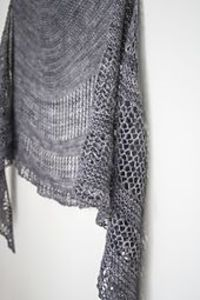 Ravelry: Interlude by Janina Kallio // Contemporary lace shawl with just one skein of fingering weight yarn.