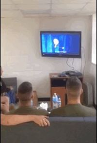 Awe this is so sweat! These marines watching frozen and singing let it go. We take for granted the simply pleasures we have everyday. This will make your day!
