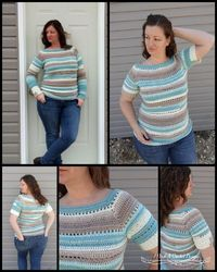 The Spring Stripes Raglan Free Crochet Pattern