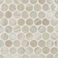 Lunada Bay Marbleized Penny Round (3/4 x 3/4) / Color Shown - Ivory Pearl