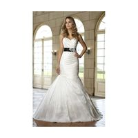 Simple Trumpet/Mermaid Sweetheart Beading&Sequins Lace Sweep/Brush Train Satin Wedding Dresses - Dressesular.com