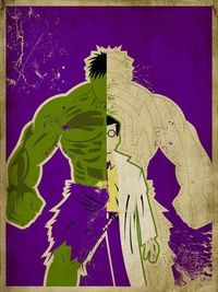 Designer Danny Haas has created a series of weathered posters that split famed superheroes' personalities straight down the middle. For characters such as Jean