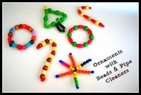 Ornaments with Pipe Cleaners and Wooden Beads | Buggy and Buddy