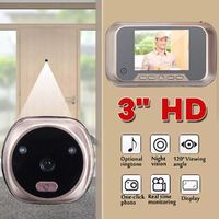 3 Inch Smart LCD Peephole Viewer Video Door Camera Visual Doorbell Night Vision