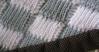 Tunisan Crochet Entrelac Baby Blanket Close Up 2 3-17-2010 7-43-52 PM