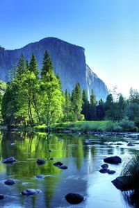 Capitan and the Merced River, Yosemite National Park.