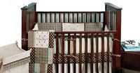 "Stefani's baby bedding, Mad About Plaid Blue 4 Piece Crib Bedding Set - My Baby Sam - Babies ""R"" Us"