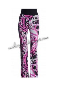 Emilio Pucci Printed Crepe-jersey Flared Pants Pink