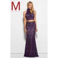 Black Mac Duggal 61848M - 2-piece Lace Dress - Customize Your Prom Dress