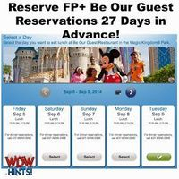 WDW Hints: How to Secure a FP+ Lunch Reservation at Be Our Guest