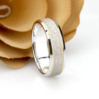 14K Gold Gold Wedding Band 6mm, Hammered Two Tone Ring, Gold Promise Ring, Solid Gold Wedding Ring, Gold Anniversary Ring, Custom Ring $481.50
