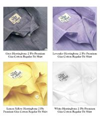 Pack of 4 Herringbone 2 Ply Premium Giza Cotton Regular Fit Shirt Combo �'�5999.00