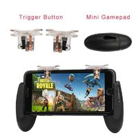 For PUBG STG FPS Fortnite Game Trigger Cell Phone Mobile Controller Fire Button Gamepad L1R1 Aim Key Joystick for iphone Android $5.64