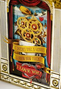 Steampunk Inspired Valentine Card by Dennis Fuentes, via Behance
