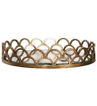Evelyn Gold Scalloped Tray by Worlds Away $267.00