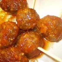 Easy Beer and Ketchup Meatballs Allrecipes.com. Five ingredients; super easy! Great appetizer!