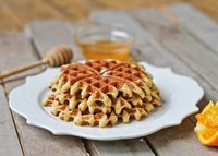 A recipe for gluten-free, low carbohydrate Almond Flour Waffles that is easy to make and tasty. From the Specific Carbohydrate Diet cookbook.