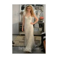 Wtoo - Spring 2013 - Aveline Lace A-Line Wedding Dress with a Portrait Neckline and Cap Sleeves - Stunning Cheap Wedding Dresses|Prom Dresses On sale|Various Bridal Dresses