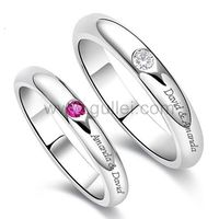 Gullei.com Custom His and Hers Wedding Rings Set for 2