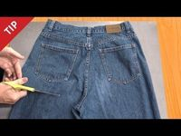 If you have a pair of jeans that is beyond repair you can repurpose them into a gardening (or other activity) apron by cutting away everything not part of the a
