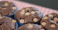 Double Choc Chip Muffins