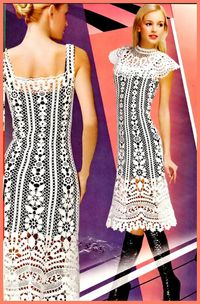 Crochet lace dress �™�LCD-MRS�™� with diagrams.