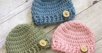 I like the idea of using wooden or another type of buttons on the hat for boys (pattern is found at http://allicrafts.blogspot.com/2011/05/free-pattern-button-flap-beanie-newborn.html)