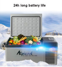 15L 110-240V Portable Camping Boating Caravan Bar Mini Car Refrigerator Freezer